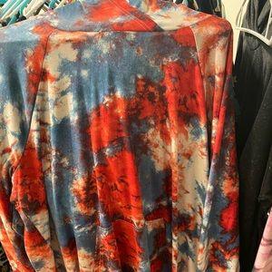 Lularoe 2XL All American Summer Tie Dye Amber